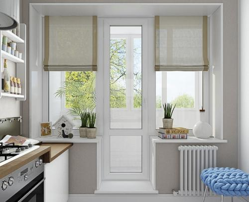 Дверь балконная 200*85 см