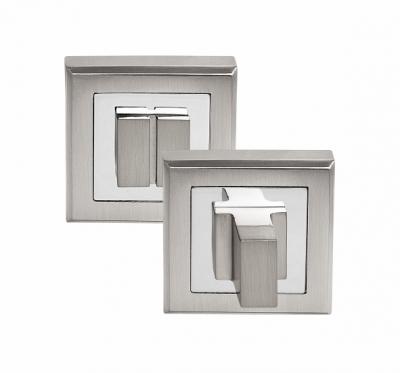 Завертка сантехническая на квадрате OLS HH белый никель