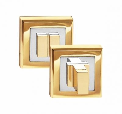 Завертка сантехническая на квадрате OLS PB золото блестящее