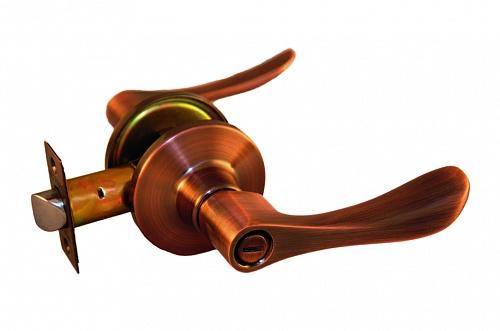 Ручка рычажная ARSENAL 891 AC-BK фиксатор медь купить по низкой цене в интернет-магазине okno19.ru