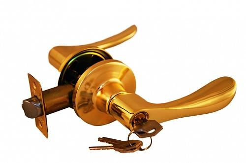 Ручка рычажная ARSENAL 891 PB-BK фиксатор золото блестящее купить по низкой цене в интернет-магазине okno19.ru