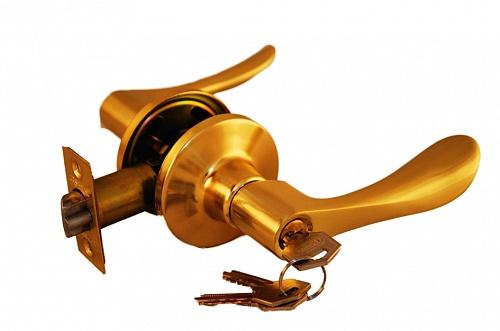 Ручка рычажная ARSENAL 891 SВ-BK фиксатор золото матовое купить по низкой цене в интернет-магазине okno19.ru