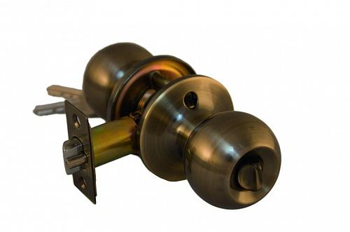 Ручка шар ARSENAL 607 AB-BK фиксатор цвет античная бронза купить по низкой цене в интернет-магазине okno19.ru
