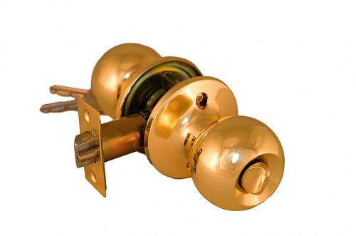 Ручка шар ARSENAL 607 PB-BK фиксатор цвет блестящее золото купить по низкой цене в интернет-магазине okno19.ru