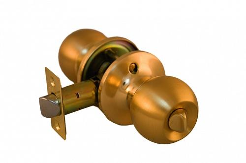 Ручка шар ARSENAL 607 SB-BK фиксатор цвет матовое золото купить по низкой цене в интернет-магазине okno19.ru